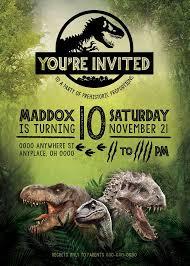 Jurassic Park Invitations Jurassic World Birthday Invitation Jurassic World Party