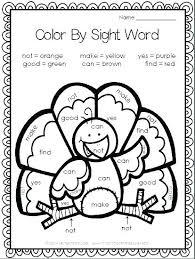Coloring Pages Worksheets Kindergarten Color Printable Word For