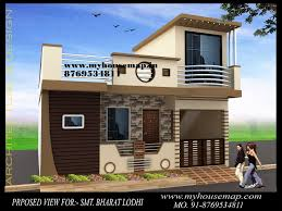 Small Picture Elevation In India House Map Elevation Exterior House Design 3d