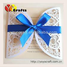 online get cheap blue white wedding invitations aliexpress com White And Blue Wedding Invitations lace white heart shape wedding invitation card greeting card with tied royal blue ribbon royal blue and white wedding invitations
