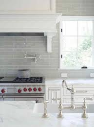 white kitchen glass backsplash. Contemporary Glass Gray Glass Kitchen Backsplash With Carrera Marble Counters In A Pretty  Traditional White Kitchen Nickel Faucet And Wolf Range Inside White Kitchen Glass Backsplash C