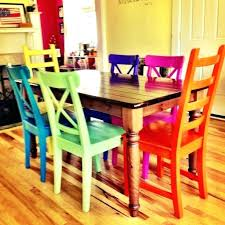colorful dining table set beautiful colorful dining room sets and best mixed dining chairs beautiful colorful