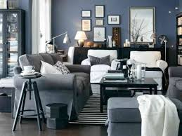 Living Room  Black Blue Silver  This In A Brighter Navy Silver And Blue Living Room