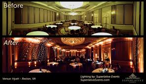 Image Rustic Reston Hyatt Before And After Wedding Lighting Wedding Window Wedding Lighting Archives Gobo Projector Rental Gobo Design Rent