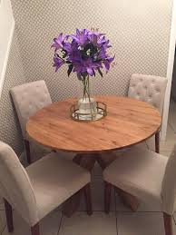 next solid wood oak round dining table and chairs