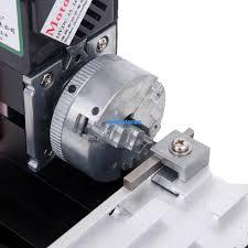 5 of 7 diy mini metal motorized lathe machine woodworking power tool model making