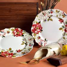 Floral Plate Design Victorian White Floral Plate