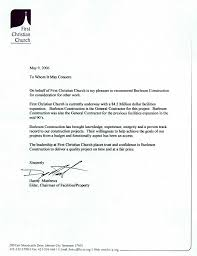 Letters Of Recommendation Burleson Construction General Contractor