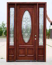 of doors wooden door 3 panel glass door