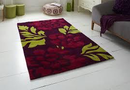 hong kong purple and green fl rug