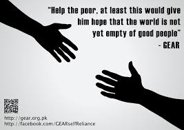 why helping a poor is important g e a r a financially