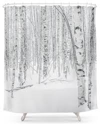 Swedish Birch Trees Shower Curtain contemporary-shower-curtains