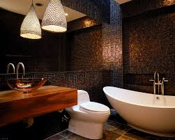 Bathrooms  Old Mosaic Bathroom Design With Wooden Bath Vanity And - Mosaic bathrooms