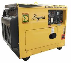 electric generator. Sigma Surge 7000 Watts 7000W 7KW Enclosed Diesel Generator Electric Start In USA