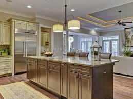 terrific drum shade ceiling lights over large kitchen island with grey wood painted added drawers storage also chrome double doors refrigerator shelves in