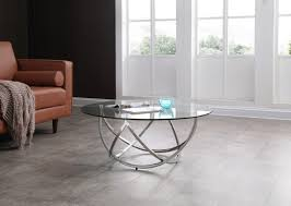 tivoli clear glass coffee table
