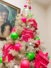 Paper Flower Christmas Tree Christmas In Technicolor We Wish You A Neon Pink Christmas