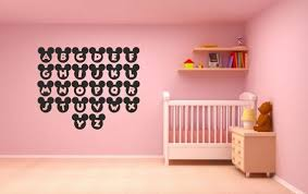 mickey mouse alphabet wall sticker pack