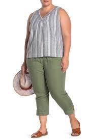 Susina Drawstring Crop Pants Plus Size Nordstrom Rack
