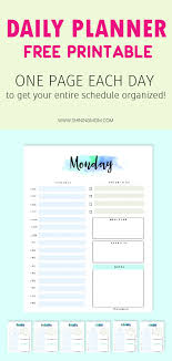 Daily Planner Printables Free Daily Planner Printable 7 Pretty Sheets