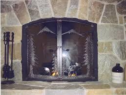 fireplace screens wrought iron