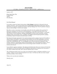 Retail Manager Cover Letter Sample Job And Resume Template