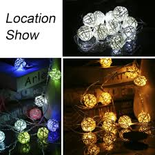 Mini White Light Strings Us 1 55 29 Off 2 5m Led Ball String Light Warm White Fairy Light Holiday Light For Party Wedding Decoration Christmas Outdoor Lighting Newest In