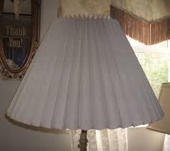 lampshade accordion pleated vintage re repair replace