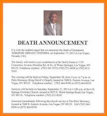 15 Sample Death Notice Proposal Review