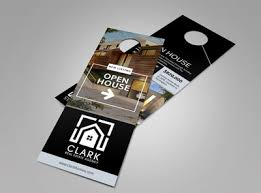 door hanger design real estate. Real Estate Open House Door Hanger Template Design O