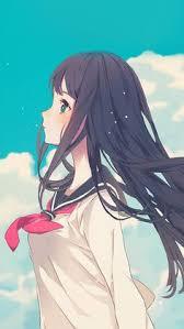 cute anime wallpaper iphone. Wonderful Anime Cute Girl Illustration Anime Sky Android Wallpaper Background For Android On Wallpaper Iphone N