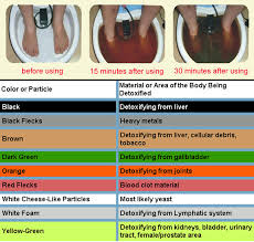 Foot Detox Machine Color Chart Ion Cleanse The Ion Cleanse Detox Foot Bath