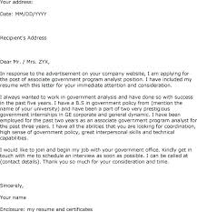 Cover Letter For Application Awesome Letter To Government Template Modclothingco