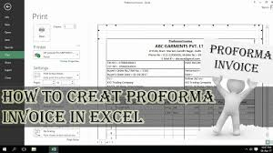Proforma Invoice How To Create Proforma Invoice In Excel Step By