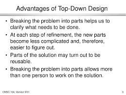 Top Down Design Advantages Ppt Top Down Design Powerpoint Presentation Free Download