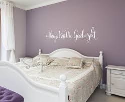 painting ideas for bedrooms. always kiss me goodnight bedroom vinyl wall decal painting ideas for bedrooms m