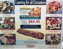we have gift baskets cold cuts and orted cheeses cream cheese and fresh lox fruit platers dessert platters orted wraps and sandwiches