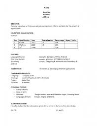 Free Basic Resume Templates Microsoft Word For Study Template