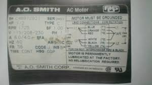 ao smith hp motor wiring diagram wiring diagram and schematic trouble wiring a reversable multi vole cap start motor