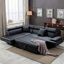 61 incredible sectional leather sleeper