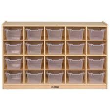 Wood Cubby Storage with 20 Bins