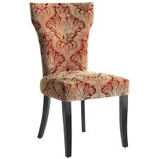 dining room red dining chairs with motif made of upholstered and black wooden legs