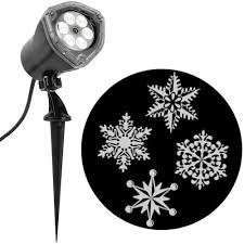Christmas Snowflakes Pictures Lightshow Projection Multi Function White Led Snowflakes Christmas Indoor Outdoor Stake Light Projector