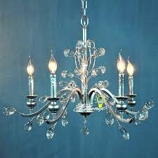 antique silver metal asfour crystal chandelier 7477