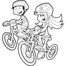 Disegno Di Bambini In Bicicletta Da Colorare Per Bambini
