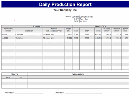 Professional Daily Work Production Report Template Sample : Helloalive