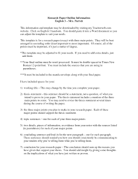 Research Essay Outline Example Writings And Essays Corner