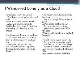 william wordsworth s i wandered lonely as a cloud analysis i wandered lonely as a cloud