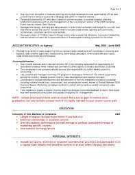 Sample Agency Resume