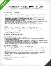Resume Objective For Maintenance Technician Best of Building Maintenance Resume Sample Janitor Combination Resume Sample
